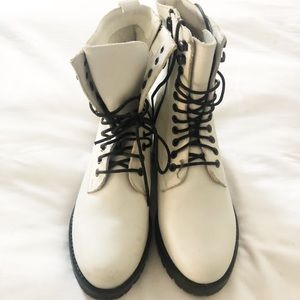 Urban Outffiters Genuine Leather Combat Boots